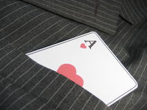 Poker. Heart as royalty free stock image