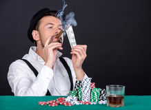 poker Arkivbild