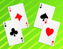 Poker. Illustration of the four aces signs poker Stock Image