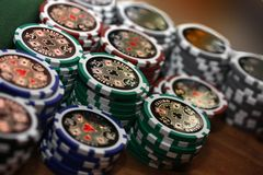 Poker 9 Stock Photo