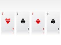 poker vektor illustrationer