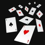 poker royaltyfri illustrationer