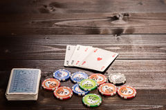 Poker Ace Stockfotos