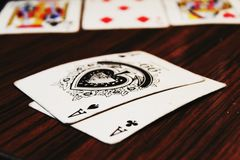 Poker Ace Pocket Game Of Luck stock photo