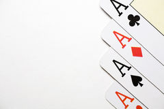 Poker aces Royalty Free Stock Photography