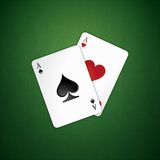 Poker aces Stock Photos