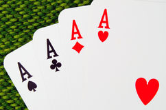 Poker of aces Royalty Free Stock Images