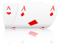 Poker aces Royalty Free Stock Photo