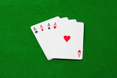 Poker aces royalty free stock images