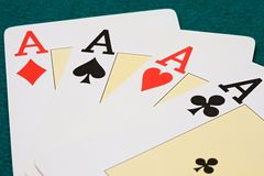 Poker of aces royalty free stock photography