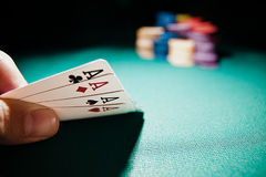 Poker of Aces and All in royalty free stock image