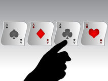 Poker aces banner Stock Photo