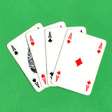 Poker of aces cards Royalty Free Stock Photos