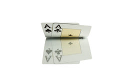Poker aces cards casino royalty free stock photography