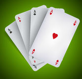 Poker Aces - Casino Gambling Royalty Free Stock Image