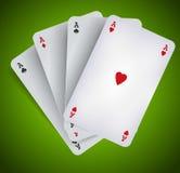 Poker Aces - Casino Gambling Royalty Free Stock Image