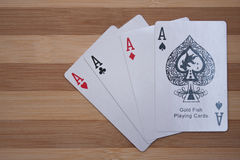 Poker aces Stock Images