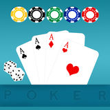 Poker of aces Royalty Free Stock Photos