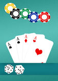 Poker of aces Stock Image