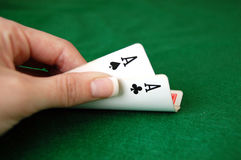 Poker Aces Stock Photography
