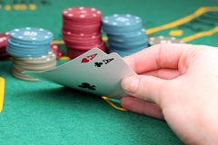 Poker Aces pair. Game Royalty Free Stock Photos