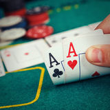 Poker Aces pair Royalty Free Stock Photos