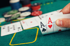 Poker Aces pair Stock Image