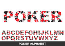 Poker alphabet. From A to Z Stock Photos