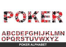 Poker alphabet. From A to Z Stock Photos