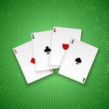 Poker ases. Royalty Free Stock Photos
