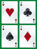 Poker ases Stock Images