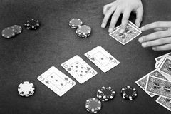 Poker atmosphere Royalty Free Stock Photo