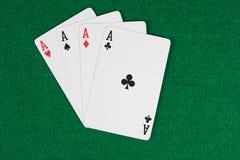 Poker av överdängare Arkivfoton