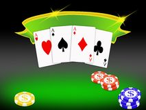Poker background (02) Royalty Free Stock Image