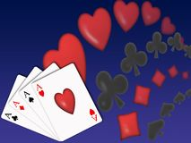 Poker background (03) stock image