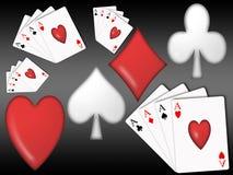 Poker background (04). Background theme casino with the symbols of poker vector illustration