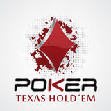 Poker background with card symbol, grunge and halftone effect Stock Images