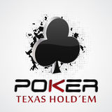 Poker background with card symbol, grunge and halftone effect Royalty Free Stock Images