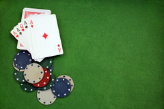 Poker background Royalty Free Stock Images