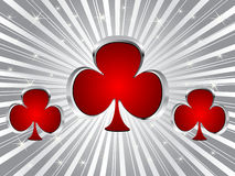 Poker background- clover Royalty Free Stock Image