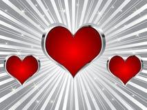 Poker background - heart Stock Image