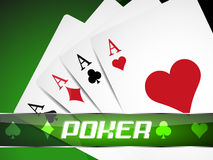 Poker background with playing cards Stock Image