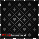 Poker background with playing cards symbol Royalty Free Stock Image