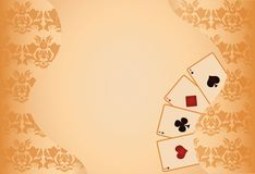 Poker background with seamless pattern,  Stock Images
