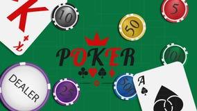 Poker background 04 Royalty Free Stock Image