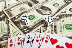 Poker - bad luck Stock Photography
