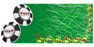 Poker banner Stock Photos
