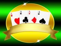Poker banner Royalty Free Stock Image