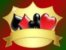 Poker banner Royalty Free Stock Image