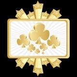 Poker banner-clover Stock Image